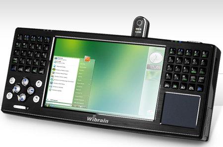 Wibrain B1 - komputer UMPC z pracującym systemem operacyjnym Windows Vista