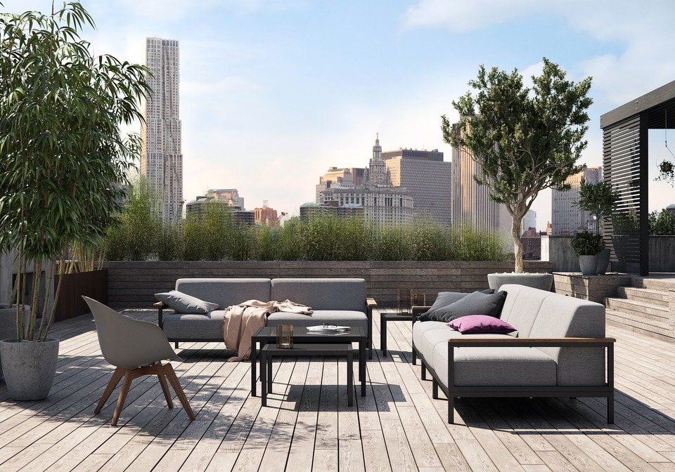 Sofa ogrodowa Rome (3 moduły: 2x300, 310), cena 16.690,-<br>Sofa ogrodowa Rome (2 moduły: 300), cena 11.690,-<br>Stolik kawowy ogrodowy Rome (mniejszy), cena 1.659,-<br>Stolik kawowy ogrodowy Rome (większy), cena 2.039,-<br>Krzesło wypoczynkowe Adelaide (do użytku wewnątrz i na zewnątrz), cena 1.139,-<br>Krzesło wypoczynkowe Adelaide (do użytku wewnątrz i na zewnątrz), cena 1.119,-