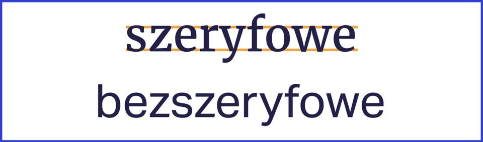 Coraz więcej portali publikujących dłuższe teksty, artykuły zaczyna wykorzystywać bardziej tradycyjną typografię (kroje szeryfowe). Podkreślają one linię bazową pisma w wyraźniejszy sposób niż kroje bezszeryfowe. Tym samym tworzą spójniejszy obraz wiersza tekstu. Jednak badania (Krzysztof Tyczkowski, Lettera Magica) nie wykazały jednoznacznej przewagi w szybkości czytania tekstu złożonego fontem szeryfowym.