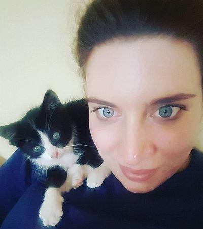 Karolina and Felek the Cat