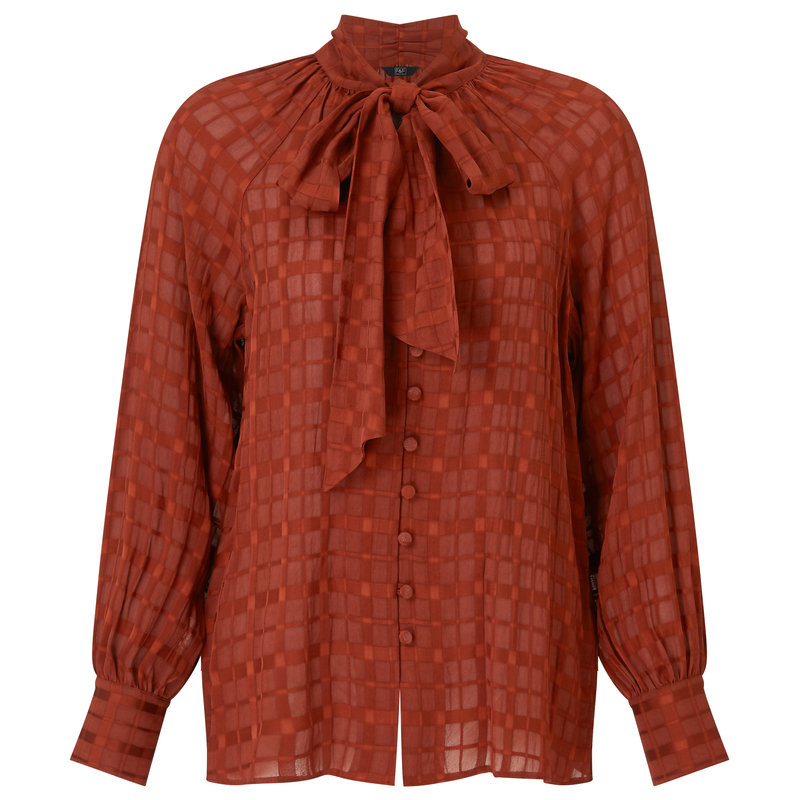F&F_brown blouse with bow tie_79.99pln.jpg
