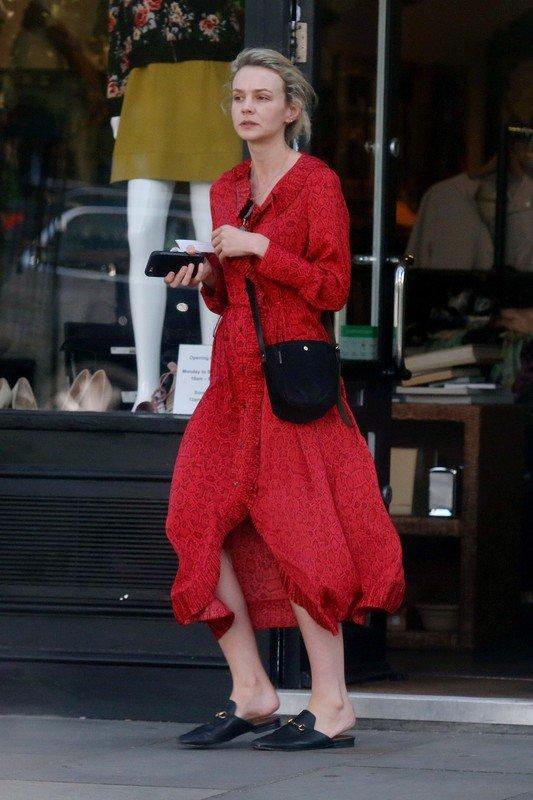 Carey Mulligan wearing MANGO dress in London.jpg