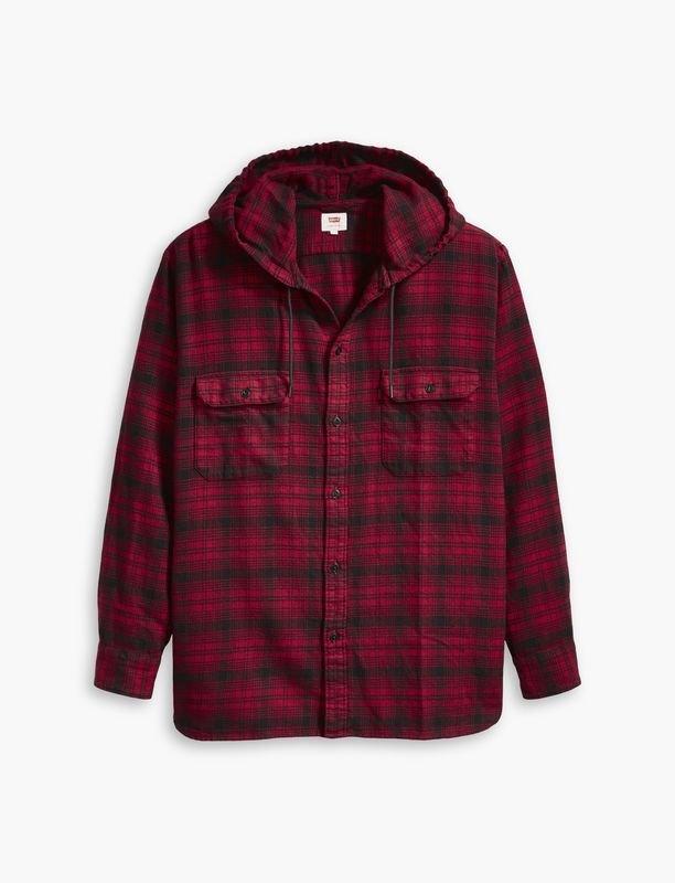 Oversized Hooded Worker Shirt Jacket - Serval Crimson.jpg