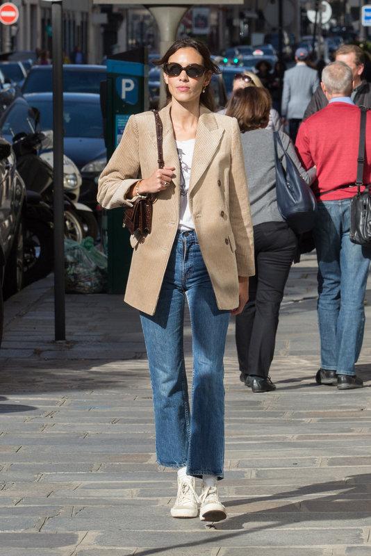 Alexa Chung spotted wearing MANGO blazer.jpg