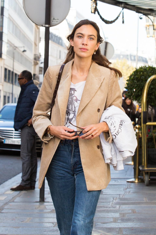 Alexa Chung spotted wearing MANGO blazer 1.jpg