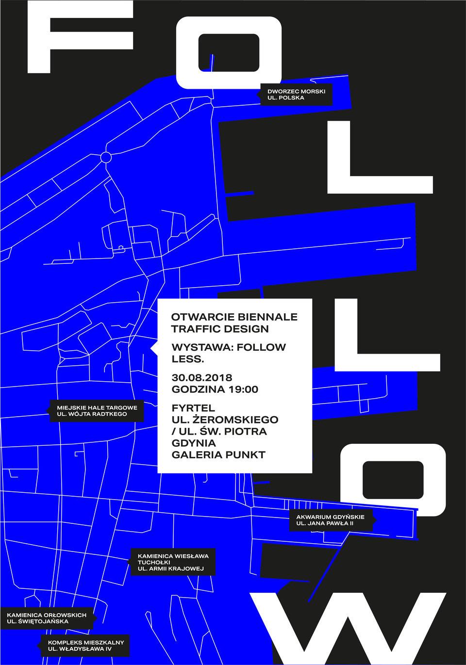 Plakat wystawy Follow