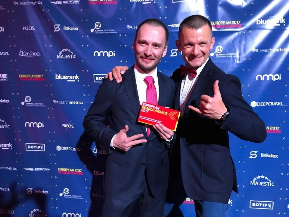 Maciej Gałecki and Zbigniew Nowicki with the European Search Awards 2017