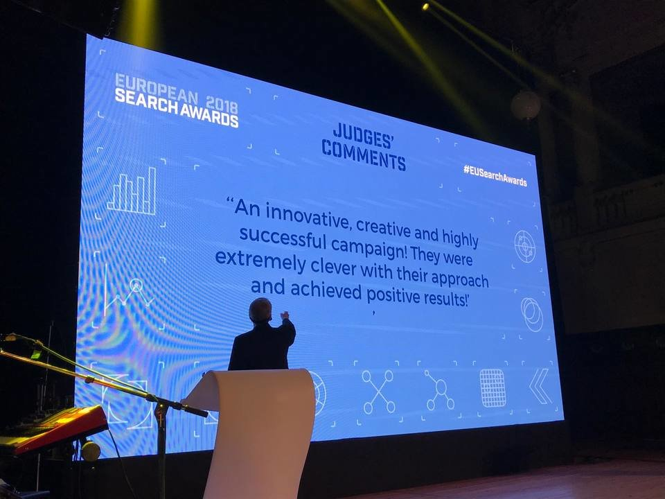 Justification of the ESA jury for Bluerank's victory in the category Best PPC Campaign (Bluerank & Tchibo.pl)