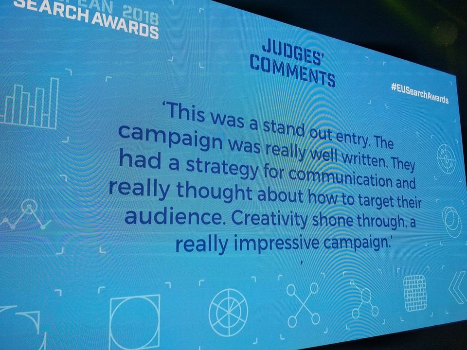Justification of the ESA jury for Bluerank's victory in the category Best Use of Social Media in a Search Campaign (Bluerank & Euroloan)