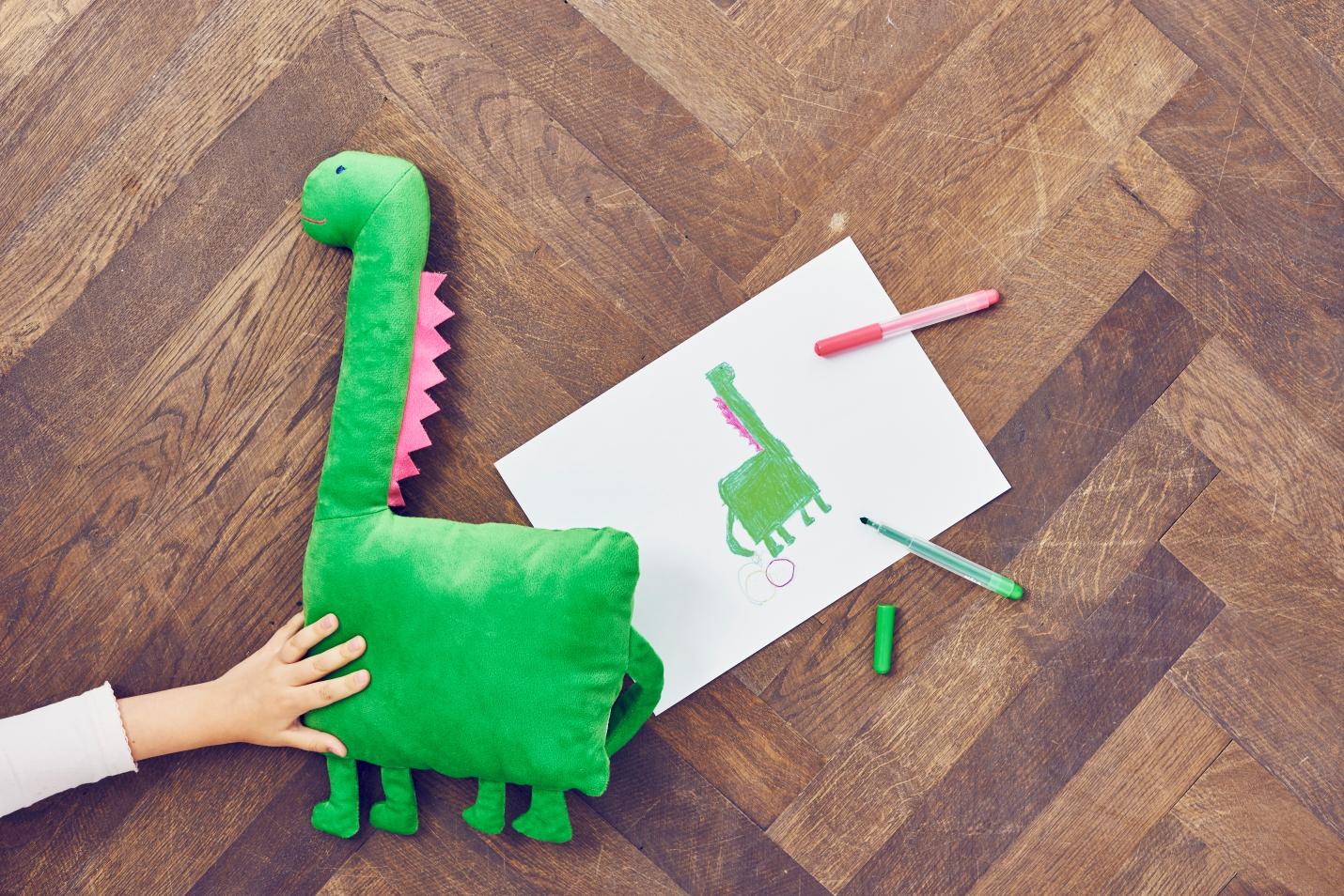 SAGOSKATT Pluszak, dinozaur, zielony
