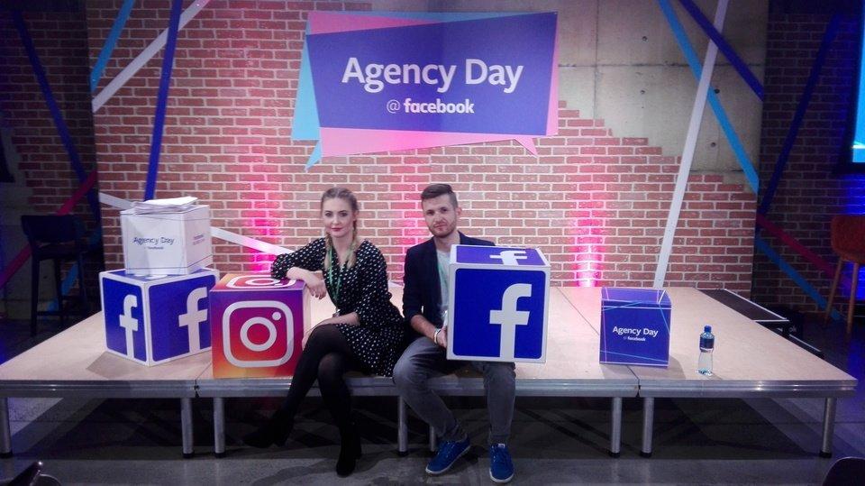 Specjaliści click community, Roksana Wąż i Kamil Pasich, podczas Agency Day 2017,
