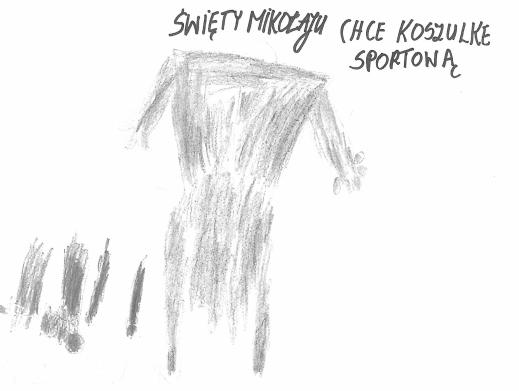 List jednego z podopiecznych z Domu Pomocy Społecznej w Kadłubie, który prosi o koszulkę sportową.