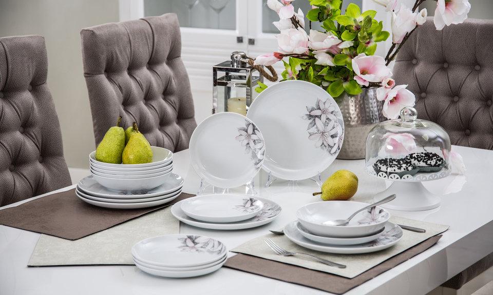 serwis obiadowy Magnolia, patera z pokrywą szklaną podkładka stołowa.jpg