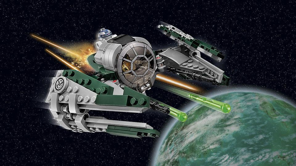 Na zdjęciu zestaw Jedi Starfighter Yody