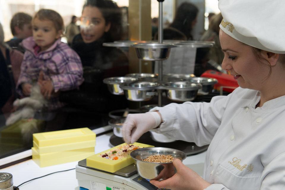 Biała czekolada przez smakoszy nie jest uznawana za czekoladę. Źródło: Materiały prasowe Muzeum Czekolady w Kolonii.