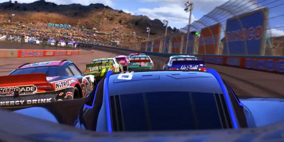 "Kadr z filmu ""Cars 3"". Fot. DB Creative Factory"
