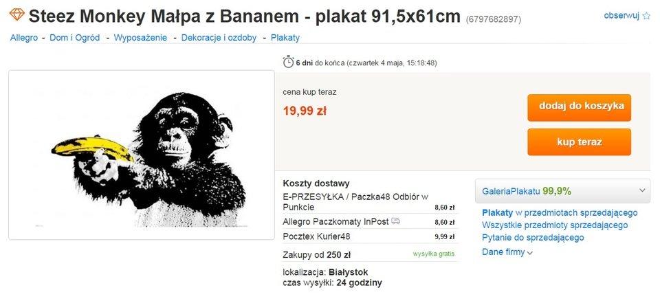 plakat małpa z bananem.jpg
