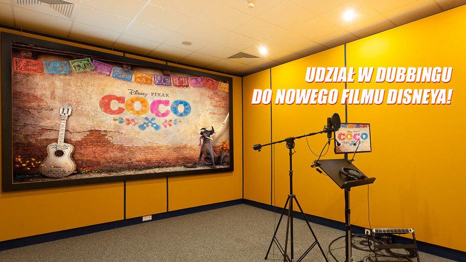 """Nagrodą główną jest możliwość wzięcia udziału w dubbingu do filmu """"Coco""""."""