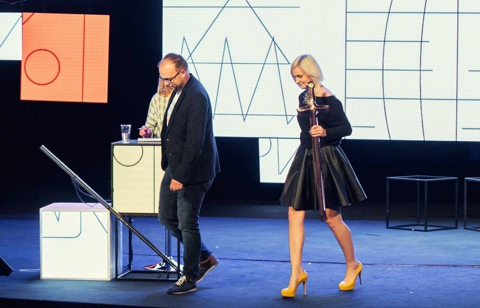 Na zdjęciu: Adam Szałamacha, Brand Manager Allegro i Anna Iller, Branded Content Manager Allegro. Fot. Darek Kociak