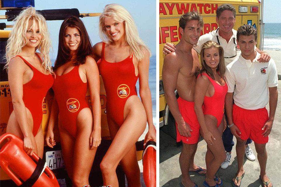"""Na zdjęciu: bohaterowie serialu """"Słoneczny patrol"""" z lat 90. Fot. Baywatchtv.org"""