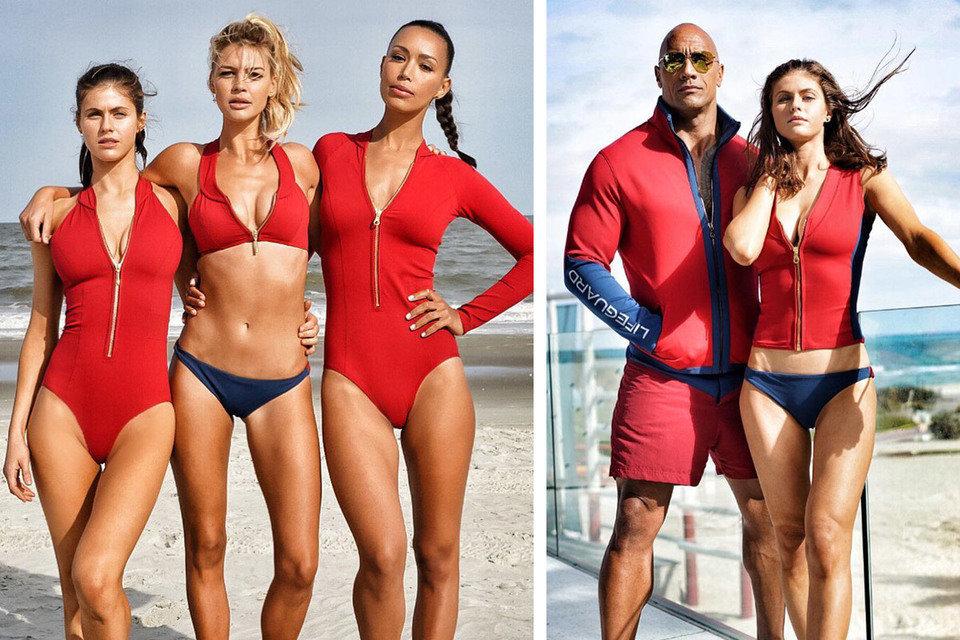 """Na zdjęciu: bohaterowie najnowszego filmu """"Baywatch. Słoneczny patrol"""". Fot. materiały prasowe"""