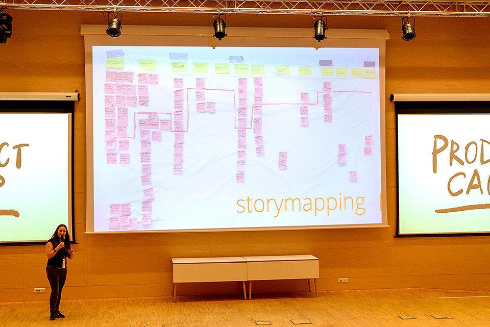 Wystąpienie podczas Product Camp 2017, fot.: T. Zwierzchowski