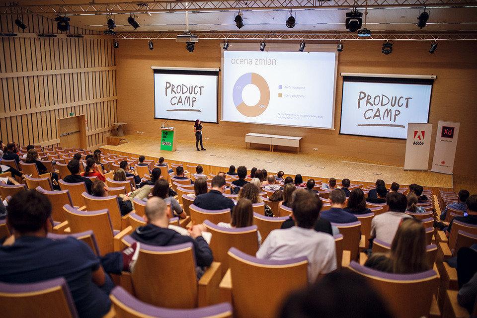 Wystąpienie podczas Product Camp 2017, fot.: M. Szeremeta