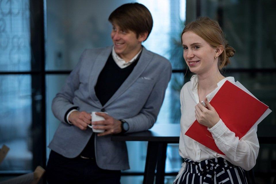 Na zdjęciu: Paulina Kazimierska, CSR Allegro i Mateusz Smus, Szlachetna Paczka, koordynatorzy współpracy