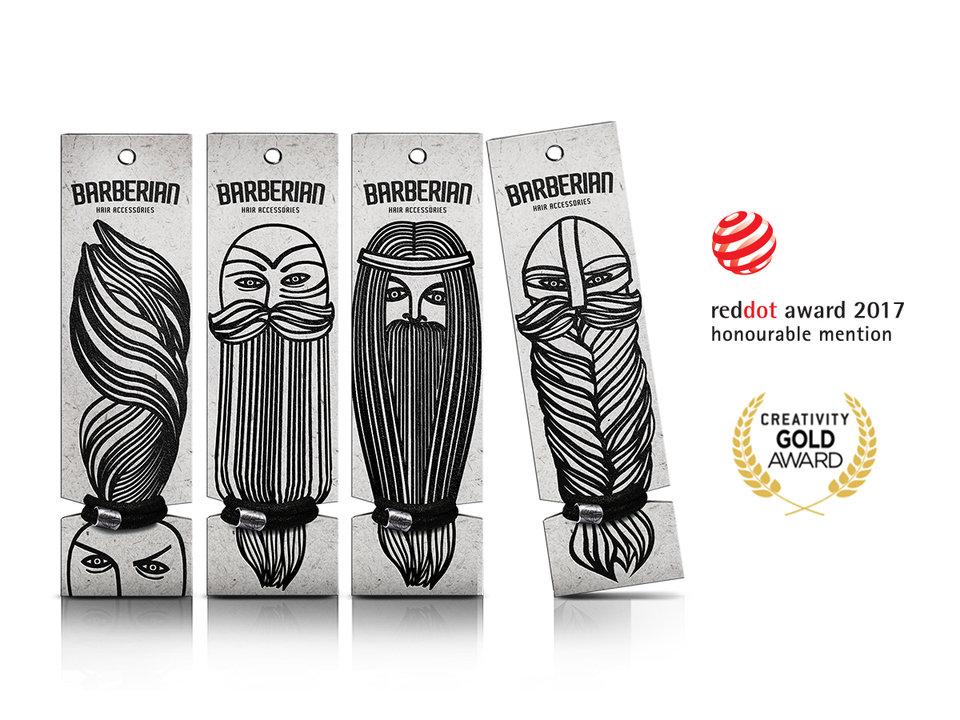 Projekt męskich akcesoriów Barberian otrzymał także wyróżnienie w międzynarodowym konkursie Red Dot Design Concept