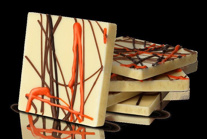 Cała czekolada została podzielona na 330 unikalnych kostek. Każdy klient mógł odczytać na swojej inny wzór.