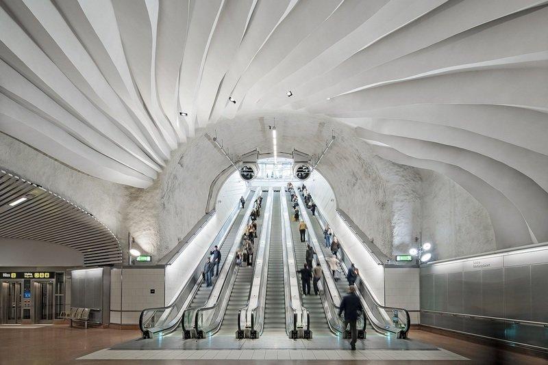 Rockfon® Mono® Acoustic, Stacja Sztokholm City, Szwecja-006.jpg