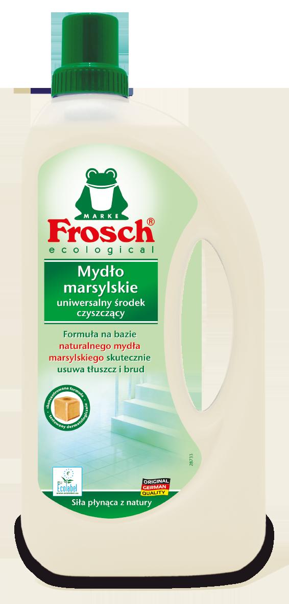Frosch - Mydło Marsylskie Uniwersalny Środek Czyszczący<br>Pojemność: 1000 ml<br>Sugerowana cena detaliczna: &nbsp;8 pln