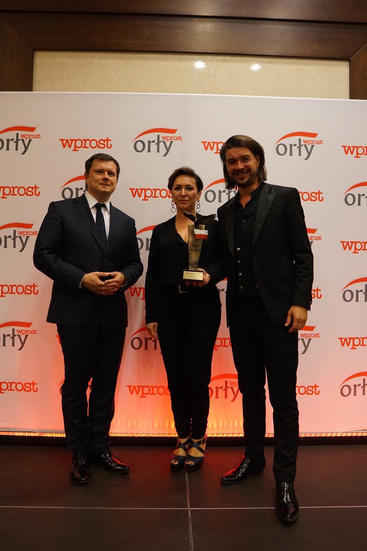 """Nagrodę specjalną Orła """"Wprost"""" dla osobowości regionu otrzymała grupa PECTUS. Fot. Tygodnik Wprost"""