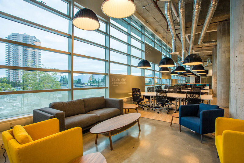 Coworking offices of Spacekraft located in Burnaby