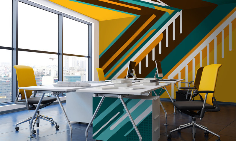 An inspiring use of a wall mural on the walls and ceilings by PIXERS your business