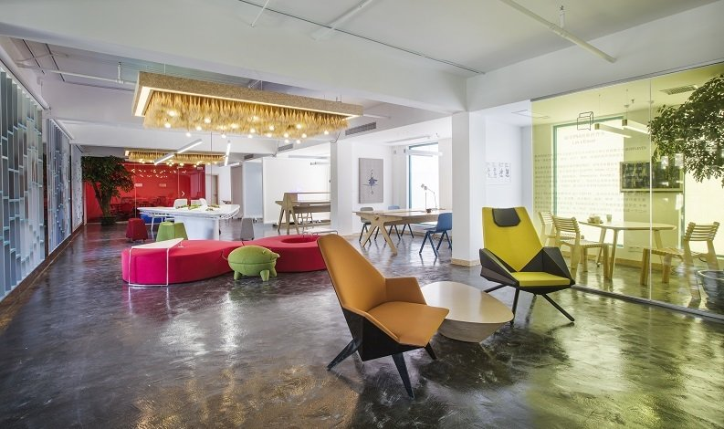 A DNA New Community interior design presented at ORGATEC