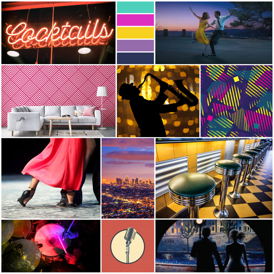 Moodboard inspired by La La Land