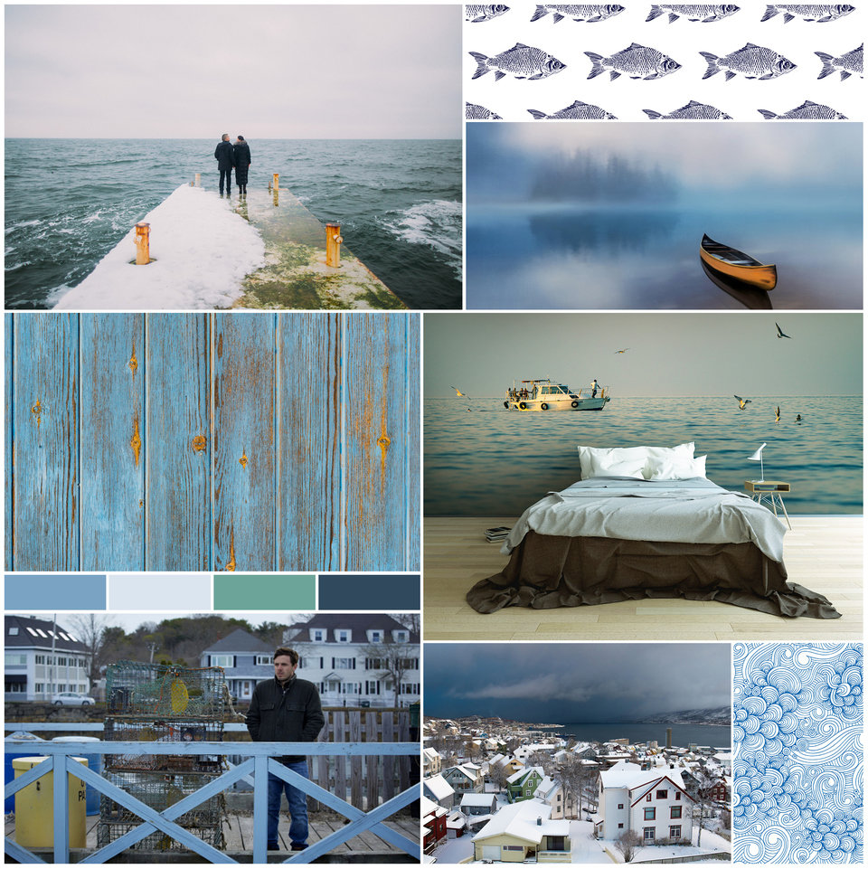 Moodboard inspired by Manchester by the Sea