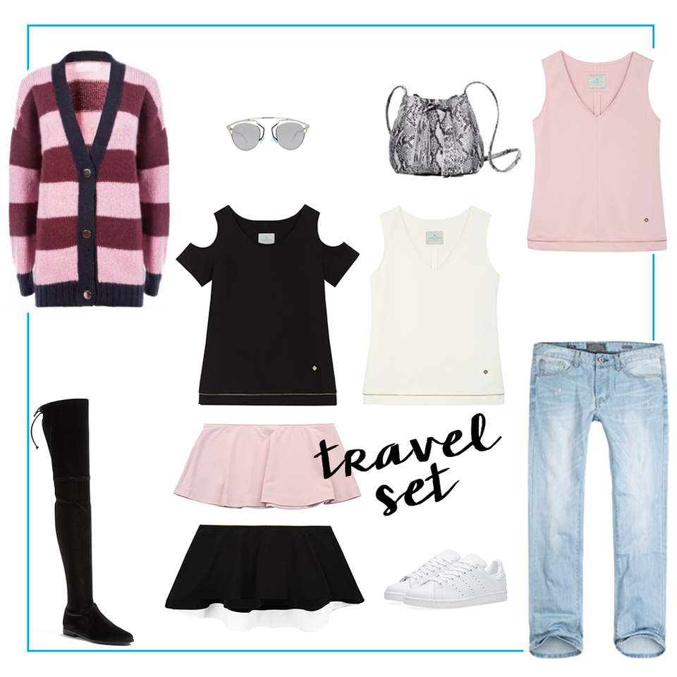 Sweter: Bizuu<br>Okulary: Dior<br>Torebka: Zofia Chylak<br>Kozaki: Uterque<br>Seakersy: Adidas<br>Jeansy: H&amp;M