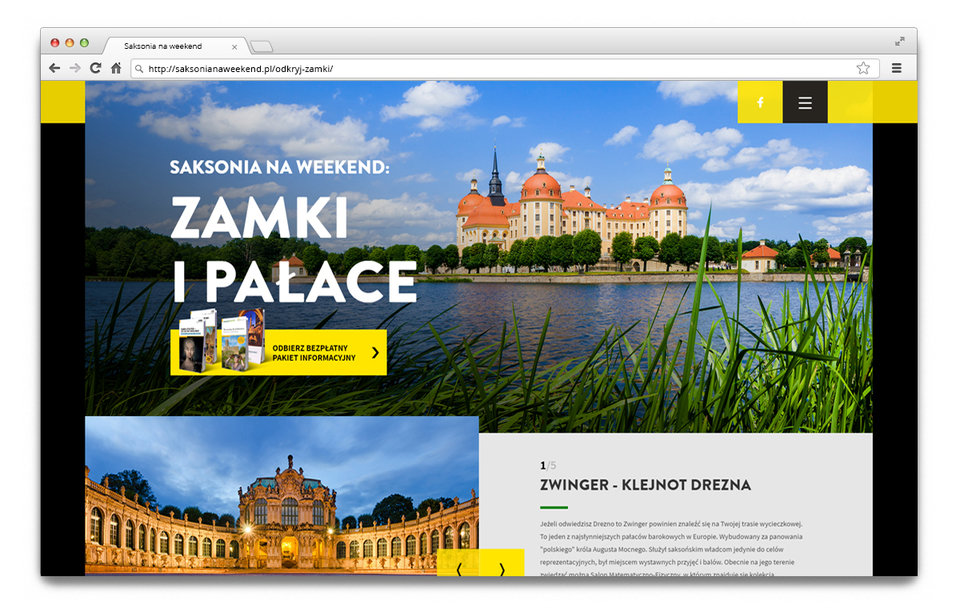 Examples of the website campaigns on the polish market.