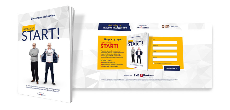 "The e-book ""Investments: start!"" provided the users with information on how to invest without taking excessive risk."