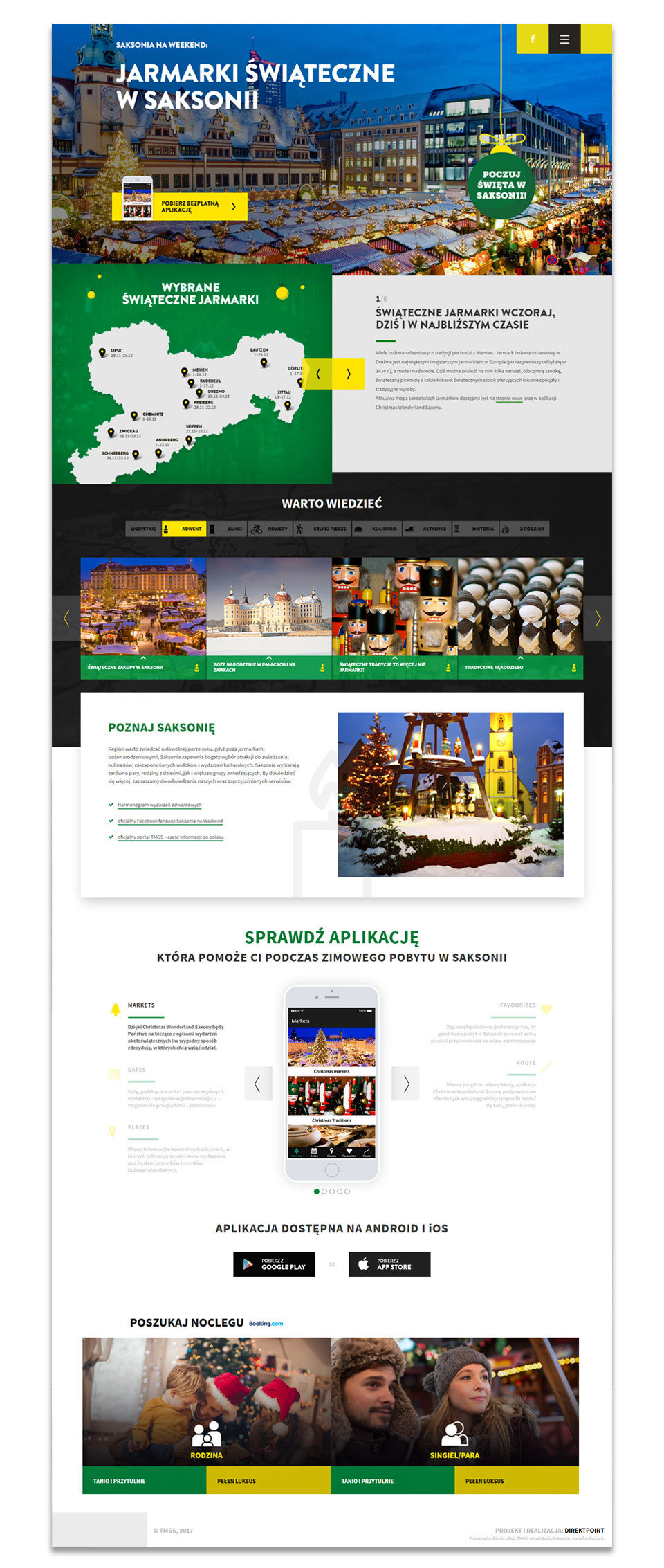 Landing page design. Mobile first design makes it easier to use from smartphones.