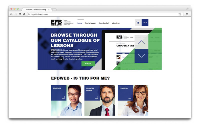 Main site of the EFBWeb e-learning platform. A course can be useful not only for advanced English speakers but also students and teachers.