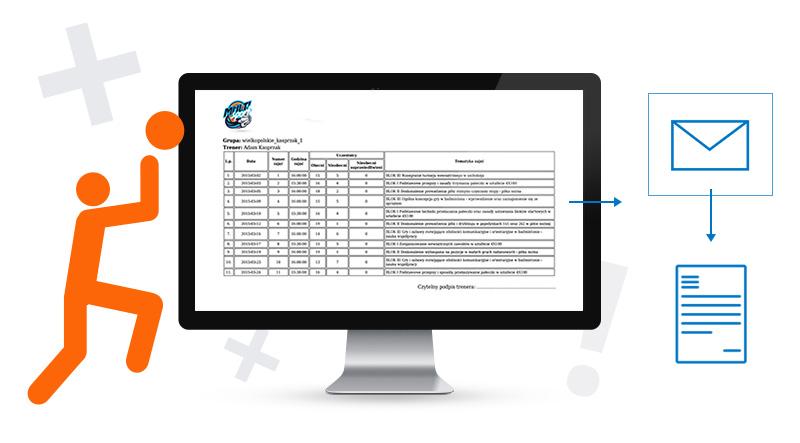 Aplikacja Direktpoint uzupełnianie przez intenrnet wszystkich potrzebnych danych i zapisuje je w systemie.