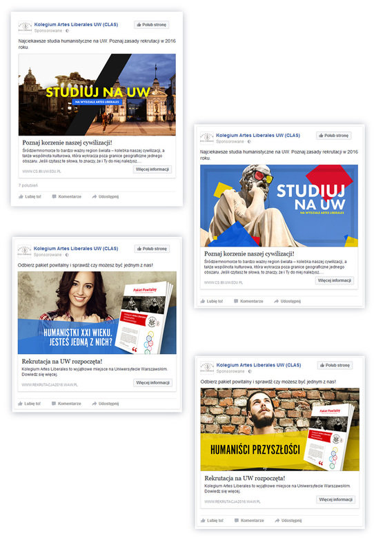 Examples of Facebook ads for the campaign.