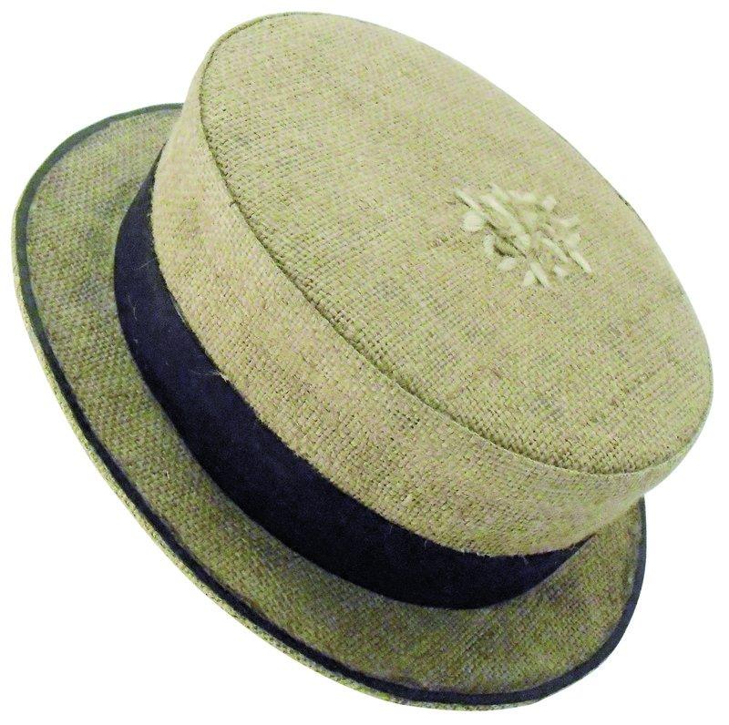Hut im 20er Jahre Stil aus altem Jutesack_crop-cosecha ueber_dawanda.com.jpg
