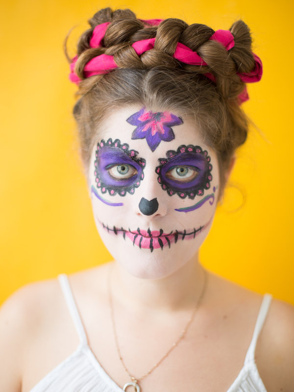 """Día de los Muertes""-Faschings-Make-up_DaWanda DIY with Love (11).jpg"