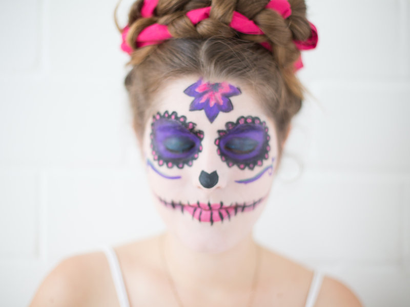 """Día de los Muertes""-Faschings-Make-up_DaWanda DIY with Love (12).jpg"