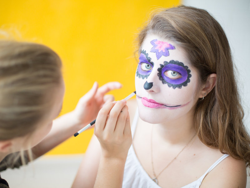 """Día de los Muertes""-Faschings-Make-up_DaWanda DIY with Love (7).jpg"