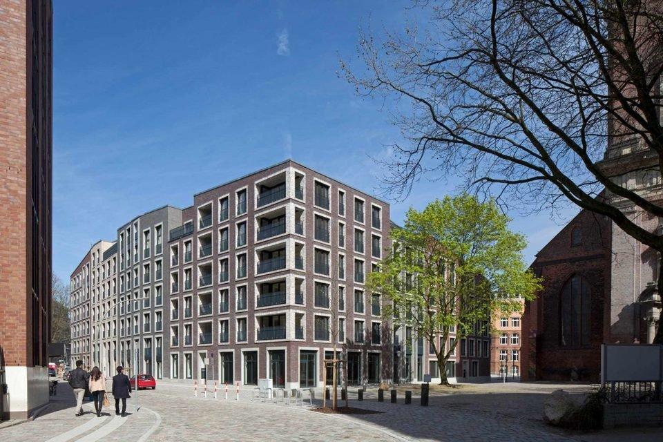 Katharinenquartier w Hamburgu jest idealnym przykładem zachowania ceglanej elewacji w projekcie rewitalizacji obiektu.
